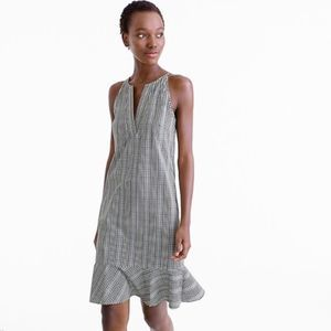 J. Crew Flutter-Hem Dress in Plaid